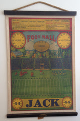 Wood and canvas football art