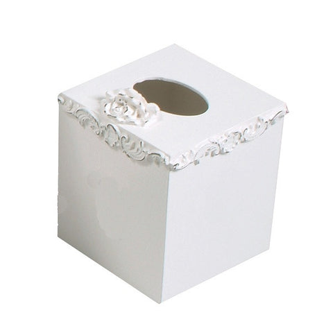 Floral tissue box covers