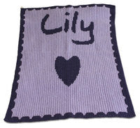 Personalized knit baby blanket2