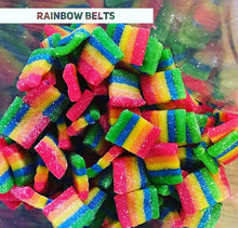 Load image into Gallery viewer, Kushie Bites 25mg CBD Sour Rainbow Belts