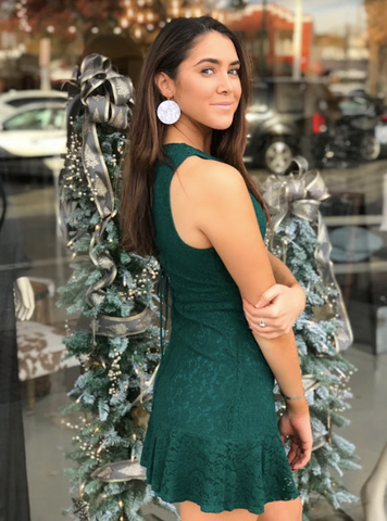 Always Love Emerald Lace Dress