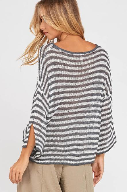 Simple Stripes Spring Sweater