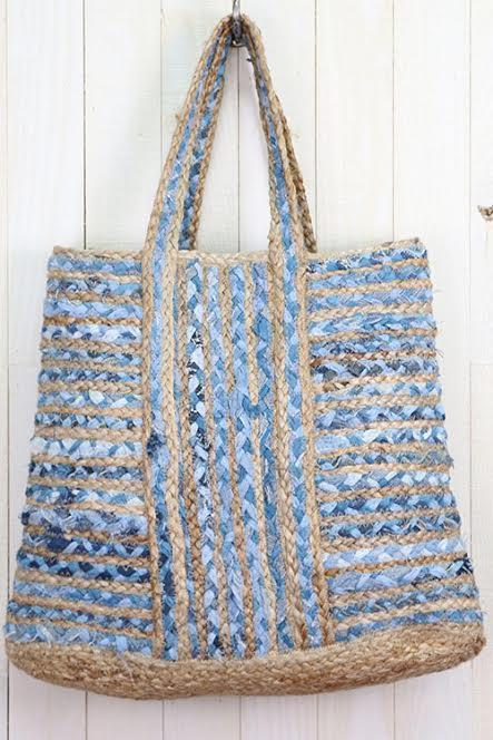 Upcycled Denim Tote Bag Bags Lovestitch