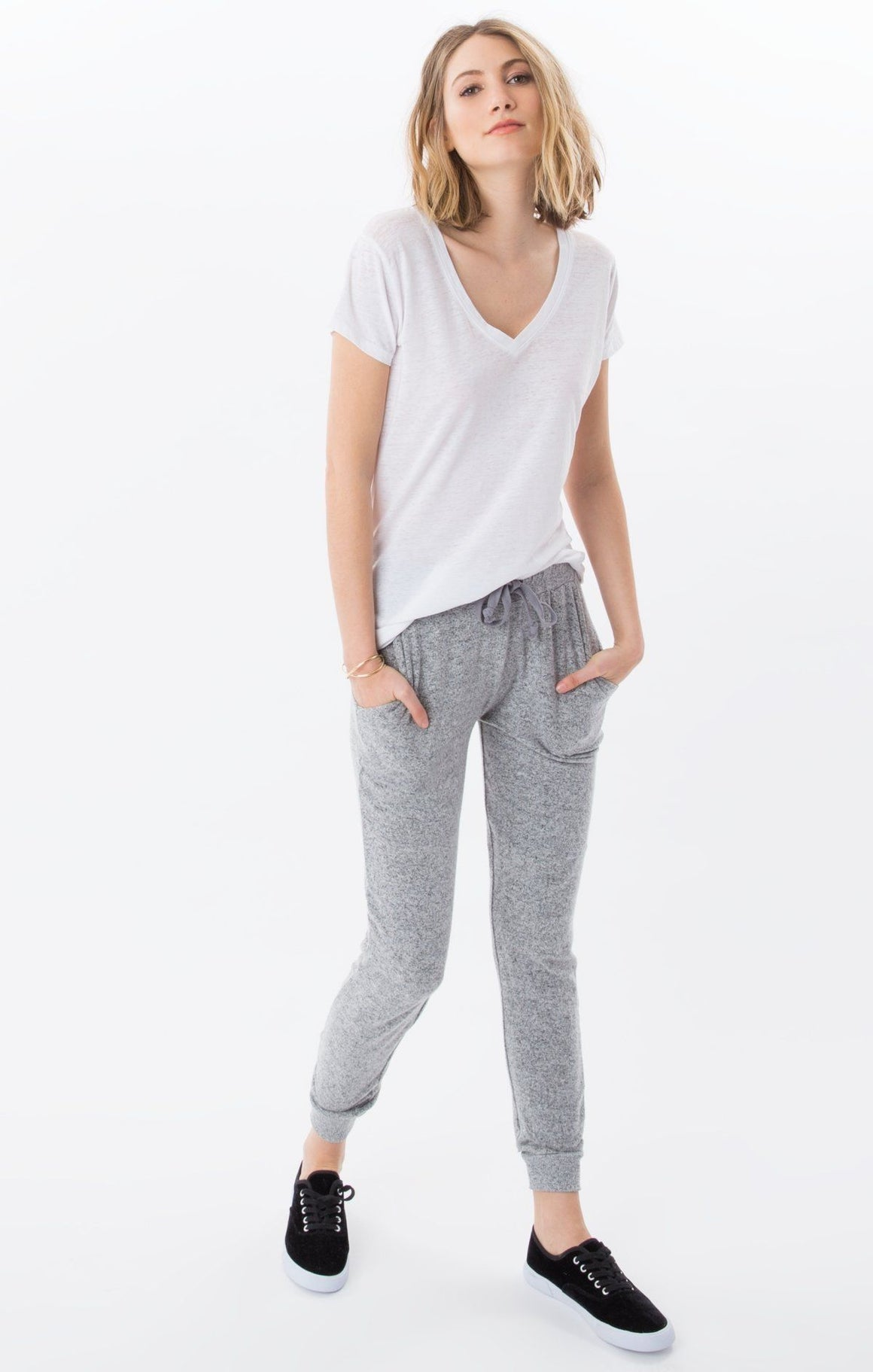 Z Supply Marled Heather Grey Jogger
