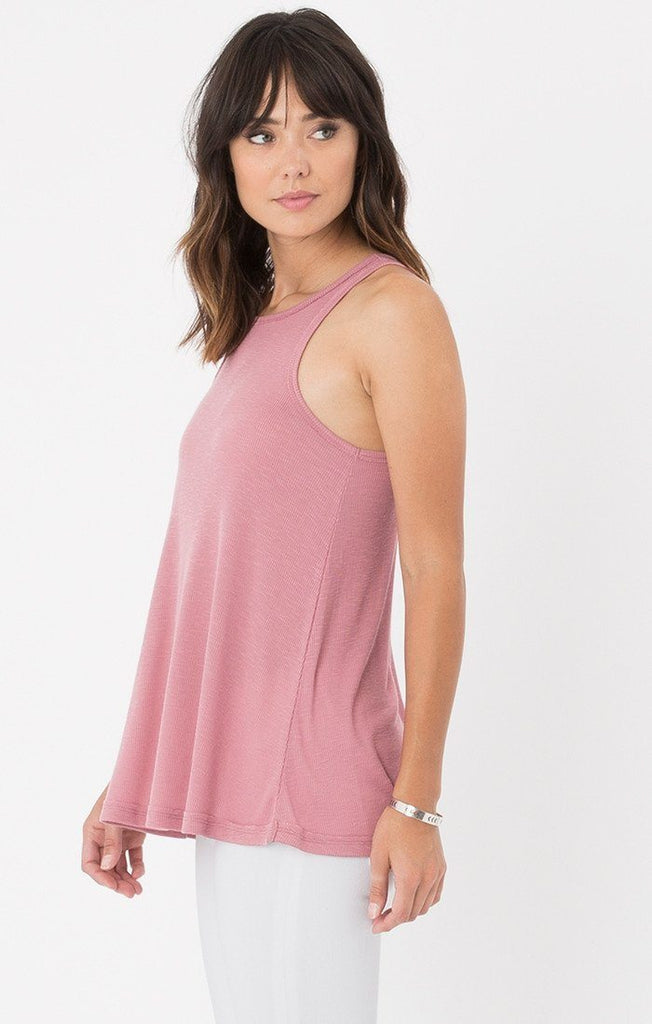 Z Supply Rib Racer Rose Tank