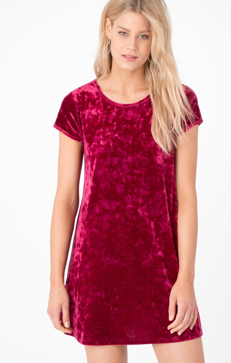 Crushed Ruby Swing Dress Z Supply Dresses Z Supply