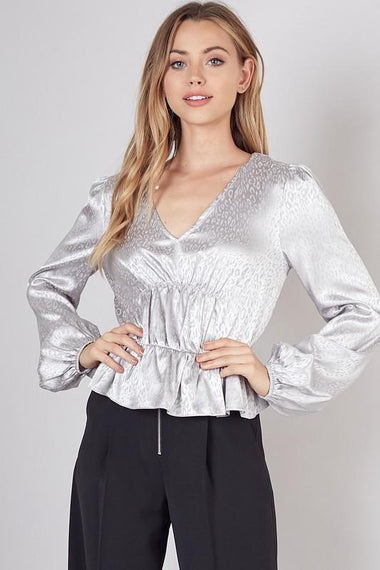 Jacquard Satin Top