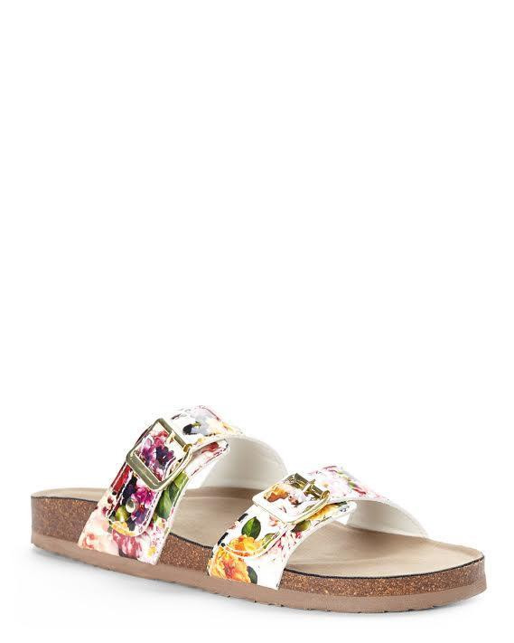 Madden Girl Brando Sandal White Flower
