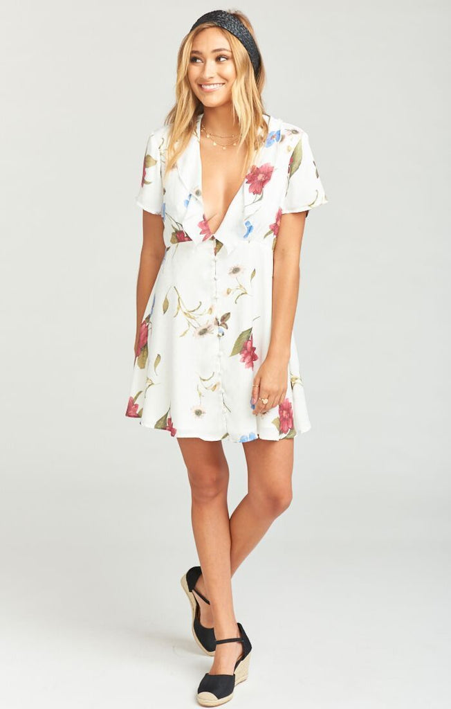 Show Me Your Mumu Bernadette Babydoll Florence~ Floral Silky Dots
