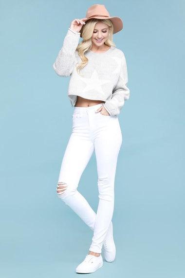 White Ripped Skinny Jeans jeans Judy Blue