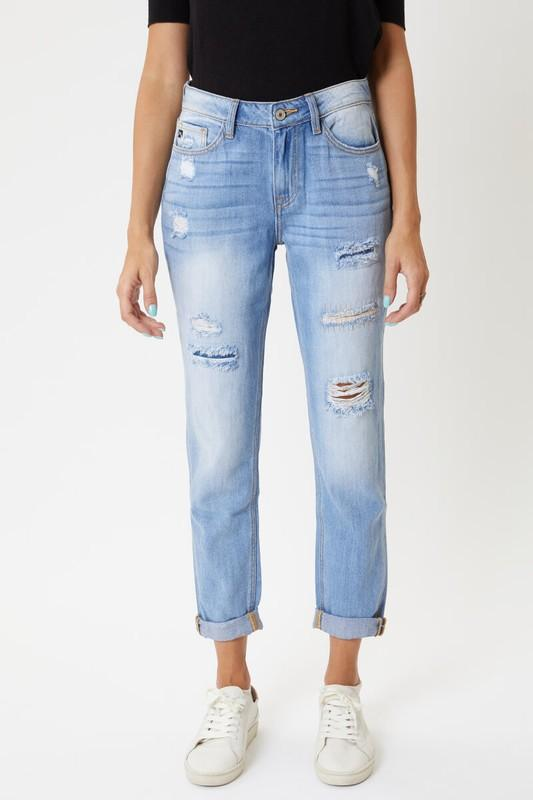 Kancan TAYLOR High Rise Mended Boyfriend Jeans Jeans KanCan