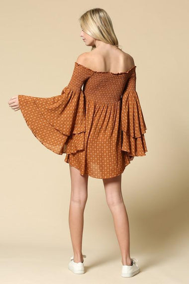 Faren Smocked Rust Dress