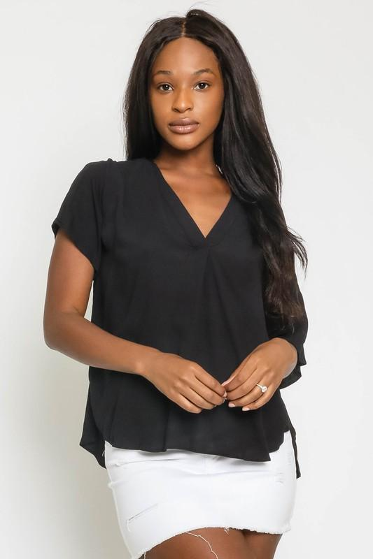 Sydney V Neck Top Process Olivaceous