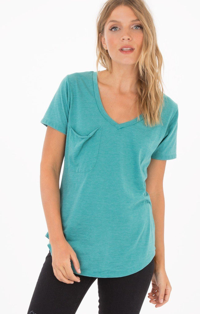 Z Supply Aqua Bay Pocket Tee