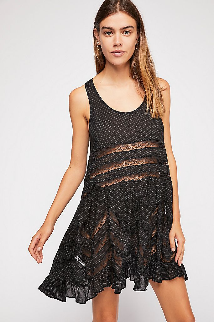 Free People Slip Voile Trapeze Dresses Free People
