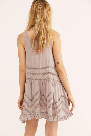Free People Slip Voile Trapeze Dresses Free People XS Pink