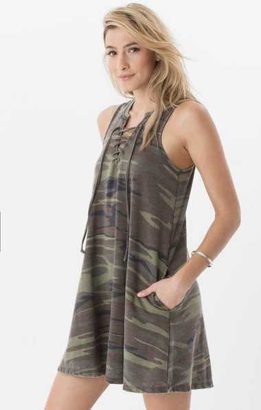 All Tied Up Camo Dress