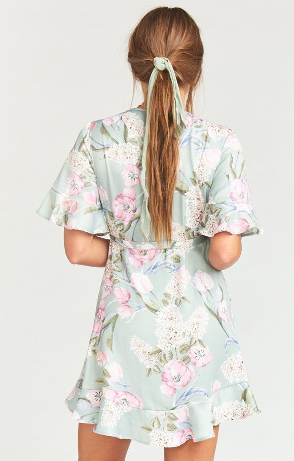 Show Me Your Mumu Evelyn Mini Wrap Dress - Primavera Floral