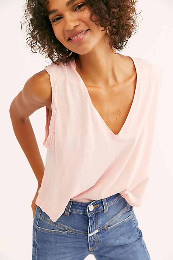 We The Free Dreamy Tank Tops Free People XS Pink