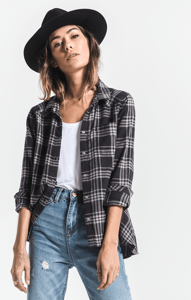 Davis Plaid Top