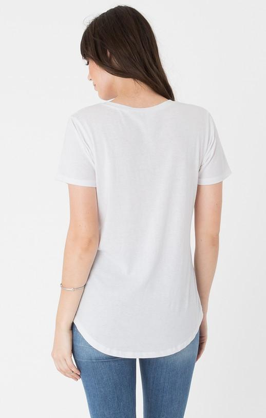 Z Supply White Pocket Tee