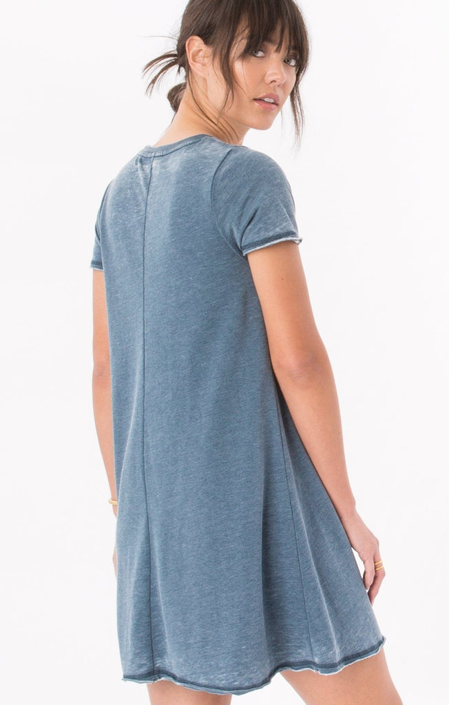Z Supply Front Zip Orion Blue Dress