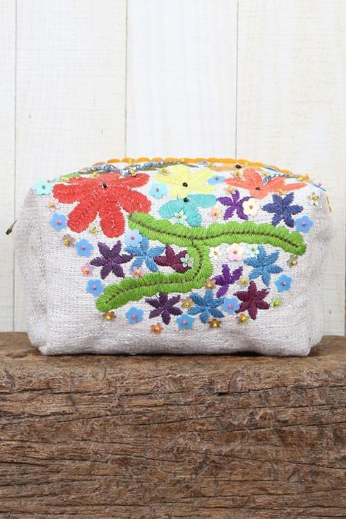 Mayan Floral Make Up Bag