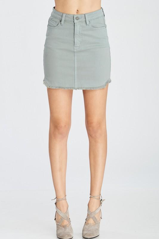 Now Or Never Denim Skirt