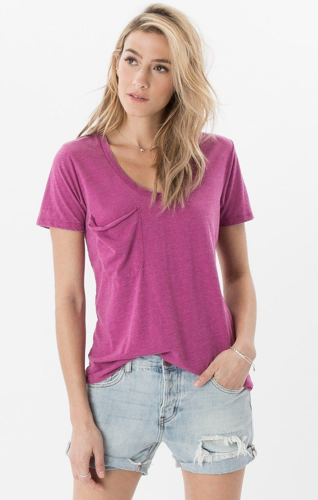 Z  Supply Purple Shadow Pocket Tee