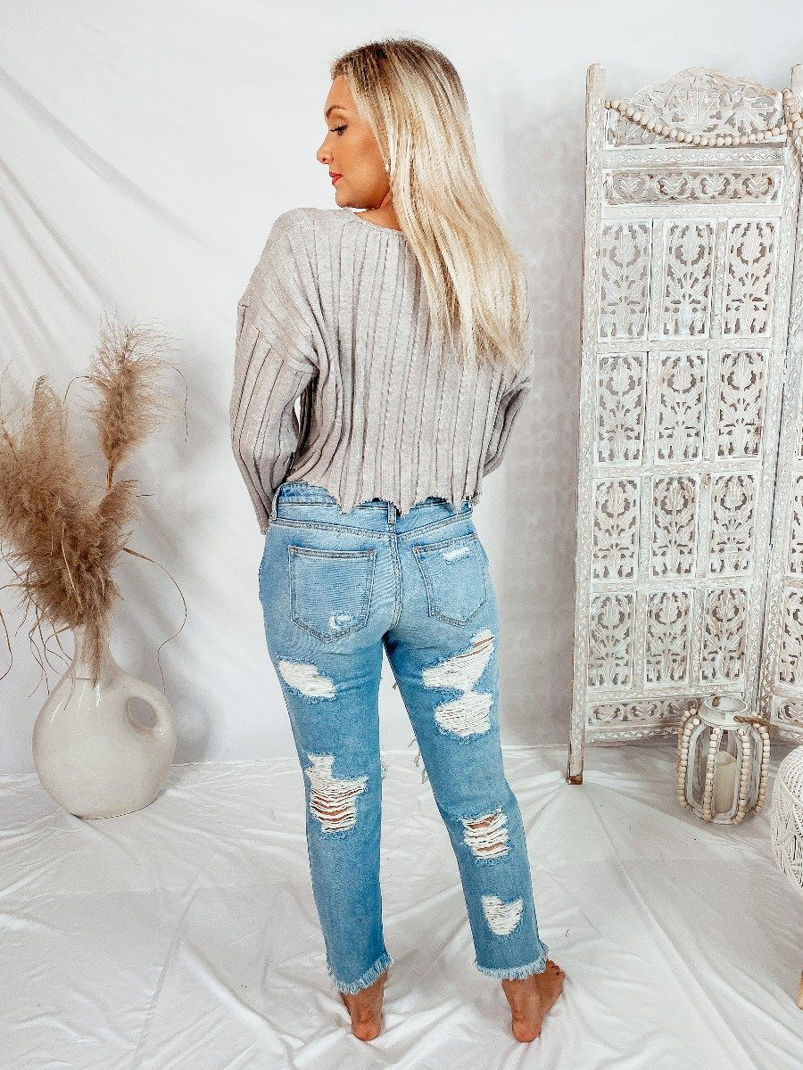 Sweet Release Cropped Sweater Sweaters LE LIS