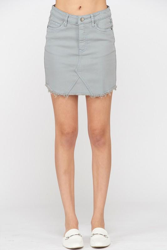 Just Enough Edge Denim Skirt