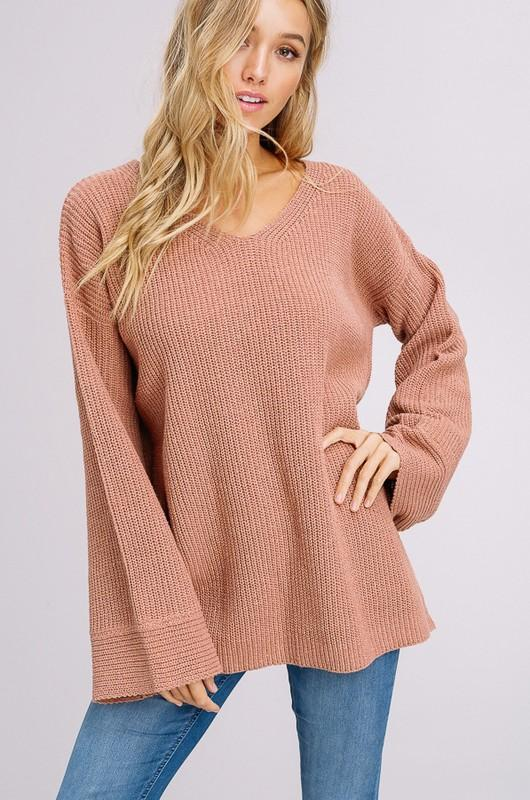 Bell Sleeve Beauty Sweater