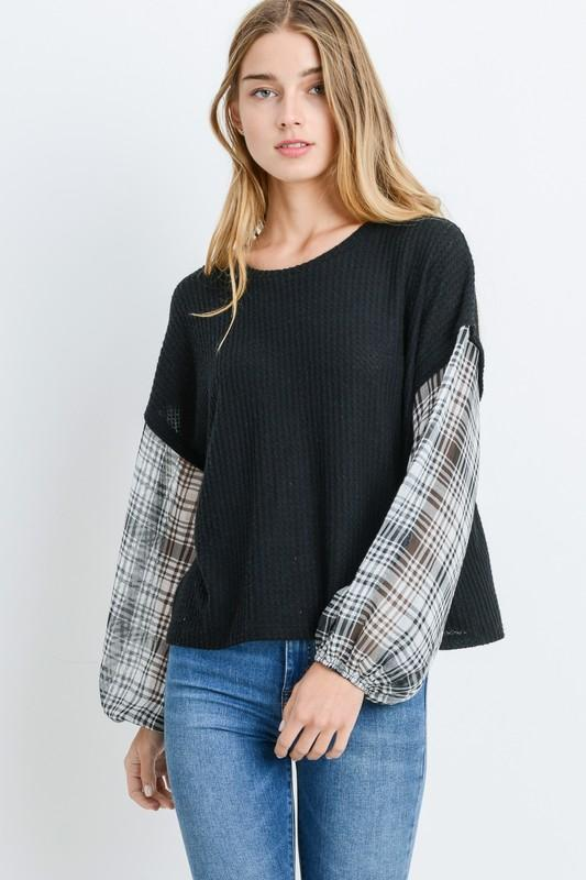 Plaid Reputation Top