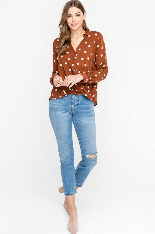 Rustic Dots Top 2