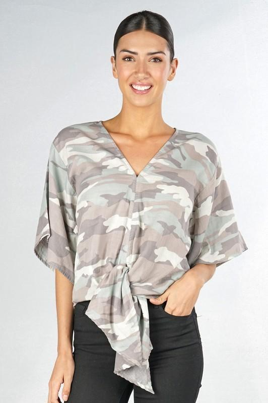 Camo Double Gauze Top