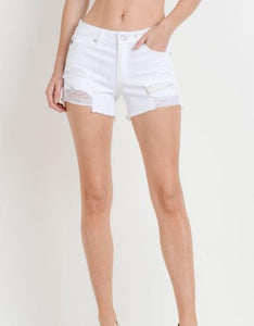 Super Destroyer White Shorts Shorts Just Black Denim