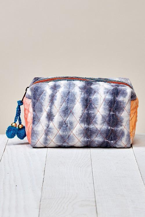 Quilted Tie Dye Make Up Pouch