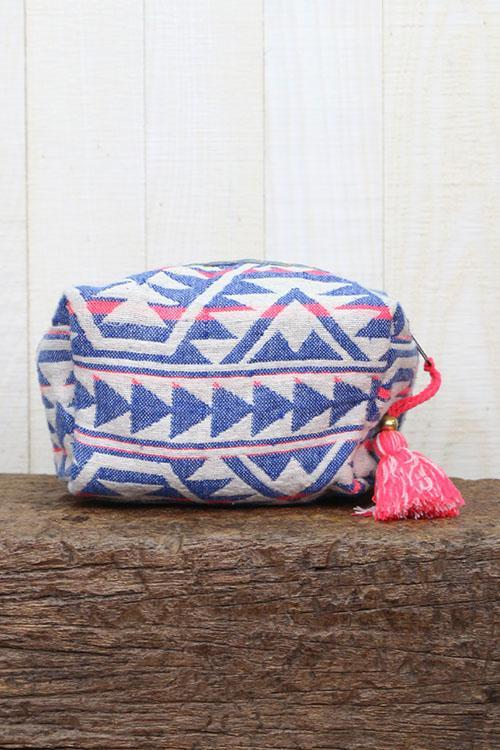 Ikat Origami Makeup Bag