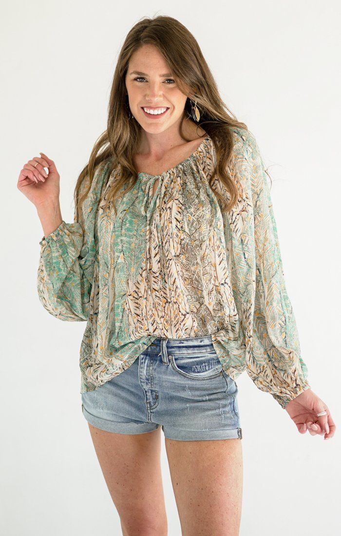 Ashlyn Top Tops Lovestitch Green S/M