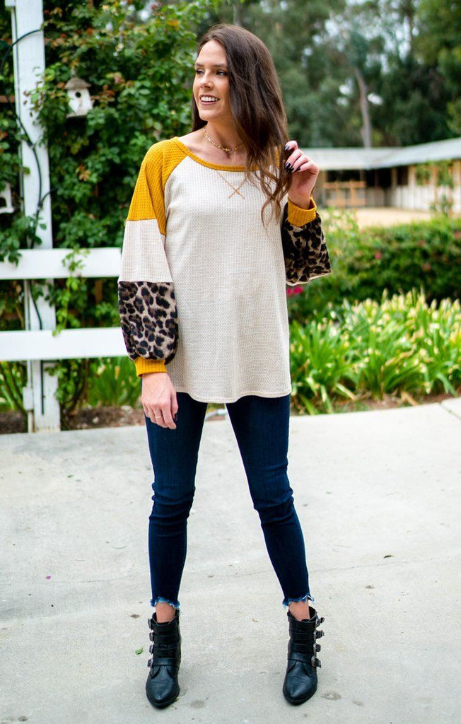 Bebe Touch of Leopard Top