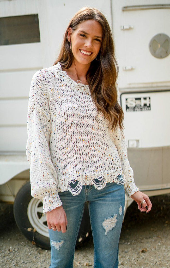 Confetti Day Sweater Sweaters She Sky S/M Cream