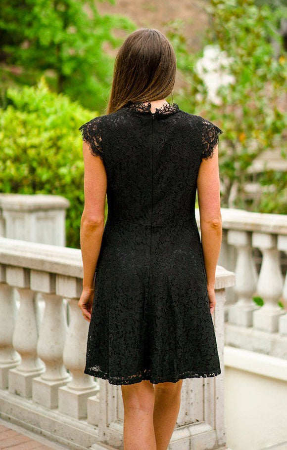 Emory Black Lace Dress