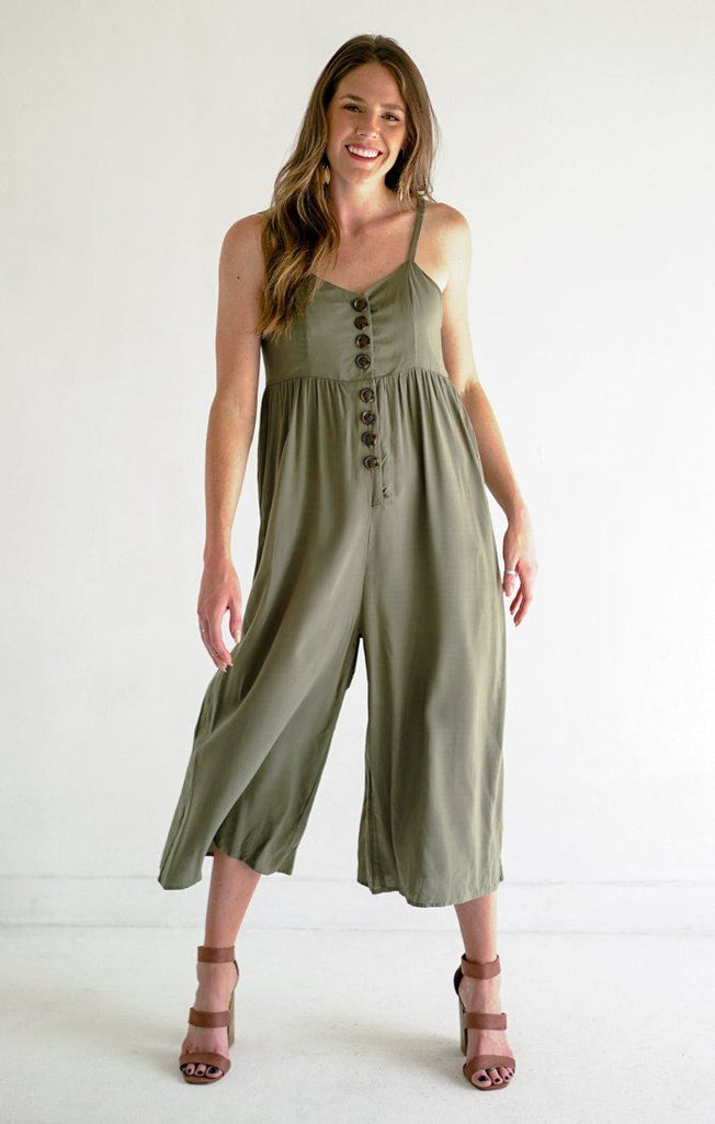 Fawning Over You Jumpsuit Jumpsuits Everly Small Moss