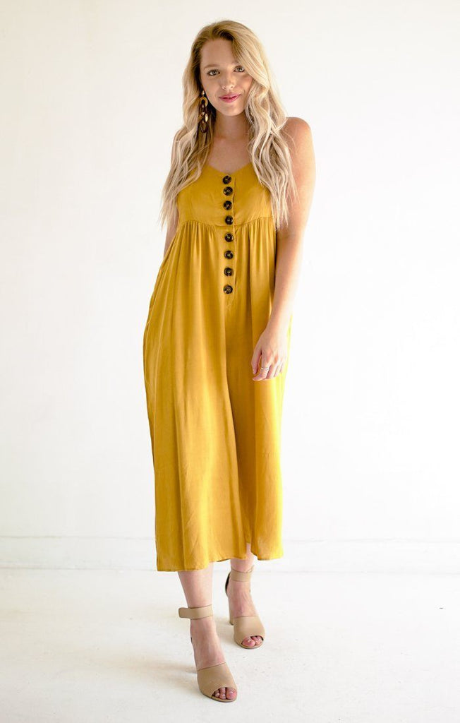 Fawning Over You Jumpsuit Jumpsuits Everly Small Yellow