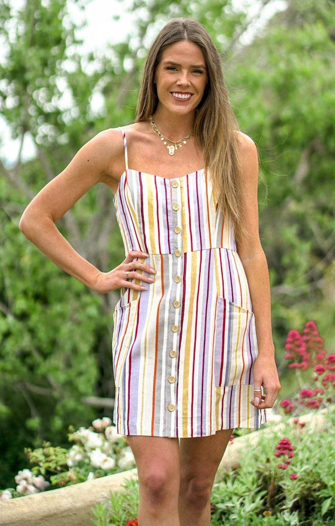 Hampton Stripes Dress Dresses Lush Small Multi