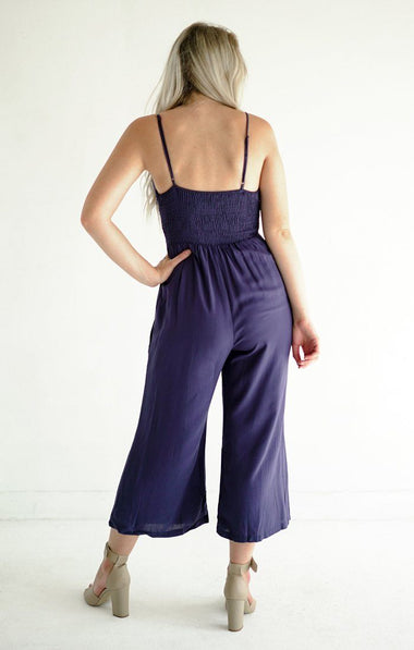 Just What You Needed Jumpsuit Jumpsuits Everly Small Navy