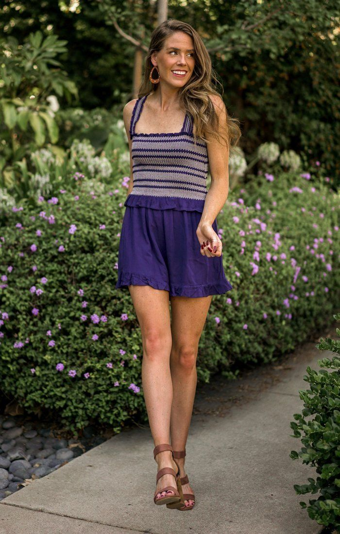 Make It Sweet Blue Romper