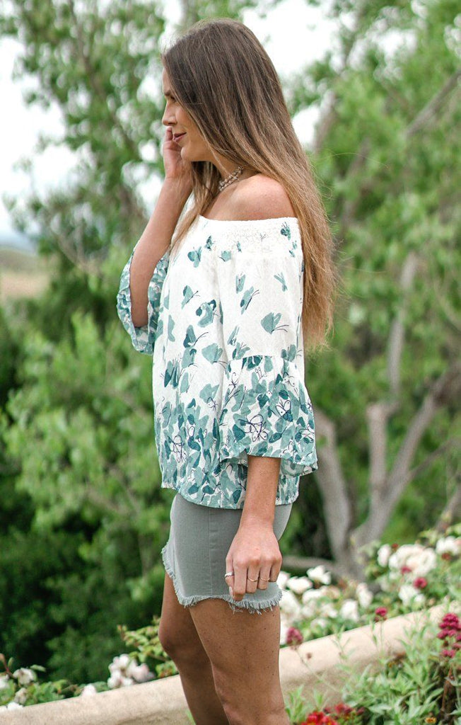 Splendid Smock Teal Top