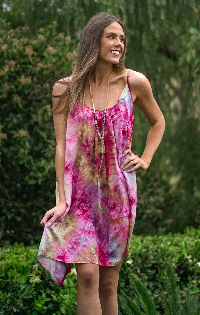 Tie Dye Sherbert Dress Dresses Lovestitch S/M Purple