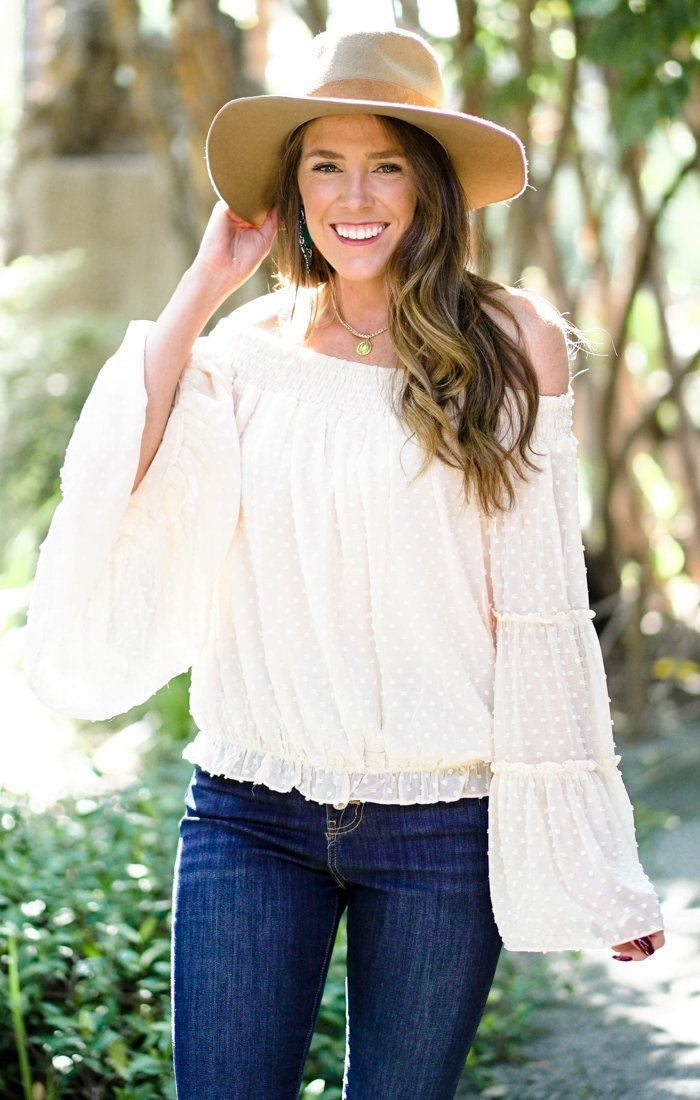Willow Dot Cream Top